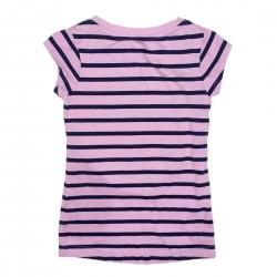 Purple Short Sleeve Tee with Owl Size 6-6X