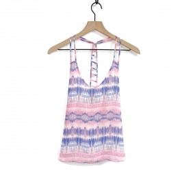 Forever 21 Pink and Blue Tank Top Sz S