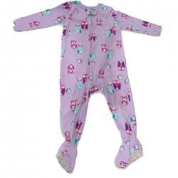 Purple Footie Pajamas with Owl Size 24M