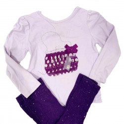 Purple Girls Toddler Outfit Sz 3T