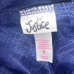 Justice Shorts Blue Size 8