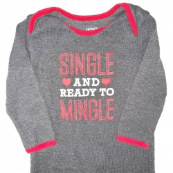Single and Ready to Mingle Valentines Outfit Sz 6M