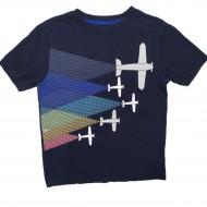 Boys Short Sleeve Airplane Shirt Sz 7