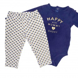 Girls Blue and Gold Outfit Sz 12M