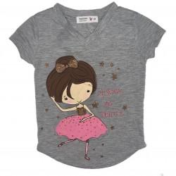 Girls Gray Dance Shirt Sz 3T