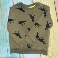 Dinosaur Green and Black Sweatshirt Sz 2-4Y