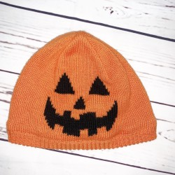 Halloween Pumpkin Hat Sz 2T-3T