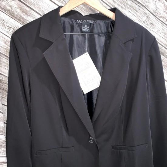 Black Dialogue Women's Blazer Size 1X