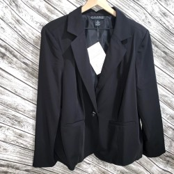 Black Dialogue Women's Blazer Size 1X
