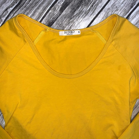 BodySuit Womens Gold Size Small