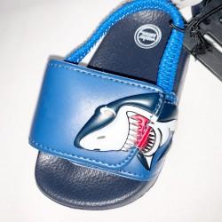 Shark Velcro Toddler Sandals Size 4
