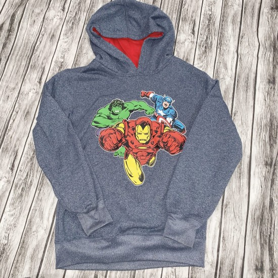 Marvel Super Hero Gray Hoodie Sz 10/12
