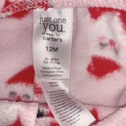 Pink Christmas Pants Santa Size 12mo