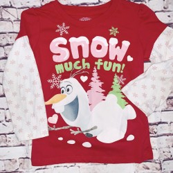 Frozen Christmas long sleeve Olaf 5T