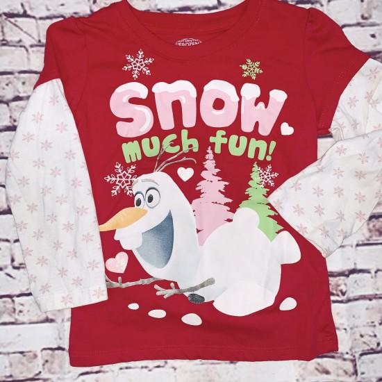 Frozen Christmas long sleeve Olaf 5T