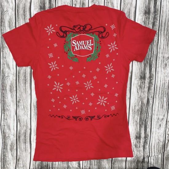 Womens Samuel Adams Christmas Shirt Sz M