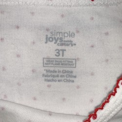 Girls White and Red Christmas 'let it snow' Top Sz 3T