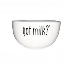 Got Milk? White Glass Bowl
