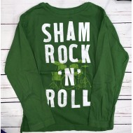 Boys Long Sleeve Green Shirt Sz M 7-8
