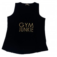 Black and Gold Graphic Tank Top Gym Junkie XL