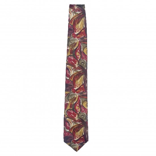 Mens Tie Red Green Yellow White Maroon