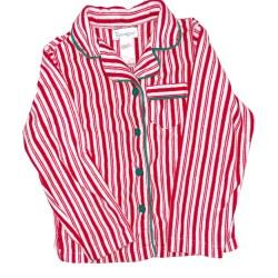 Candy Stripe Christmas Pajama Top Sz 14