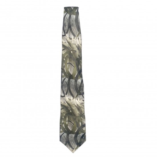 Green and Gray Mens Neck Tie