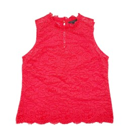 Red Sleeveless Top and Cami Sz L BANANA REPUBLIC