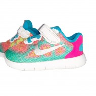 Girls Colorful Sneakers Size 6