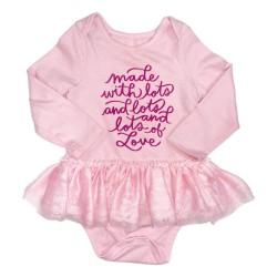 Girls Pink Onesie Dress Sz 18M