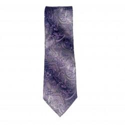 Purple and Silver Silk Tie