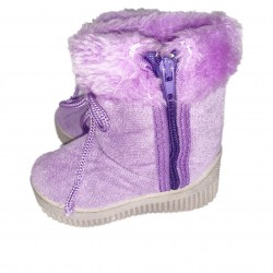 Girls Purple Boots Size 4