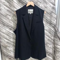 RACHEL Rachel Roy 3X Black Sleeveless Blazer Vest