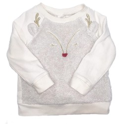Girls Reindeer Sweatshirt Sz 18-24 Months