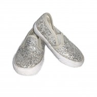 Girls Silver Toddler Shoes Size 6