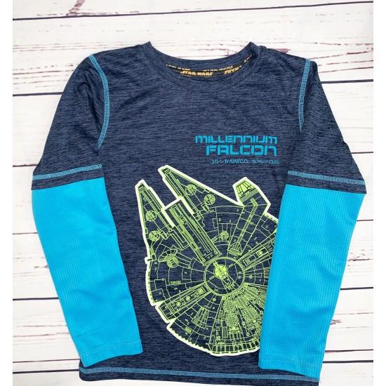 Boys Long Sleeve Shirt Star Wars Sz 7X