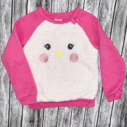 Girls Pink and White Sweatshirt Sz 5T
