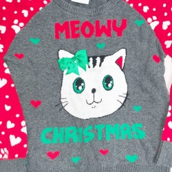 Girls Size M 7/8 Ugly Christmas Sweater