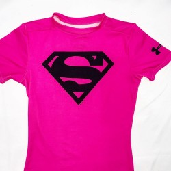 Pink Under Armour Heat Gear Athletic Top Size YMD/JM/M