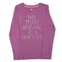 Purple Long Sleeve Unicorn Shirt L (10/12)