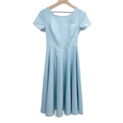 Vintage Swing Dress Blue Sz XS