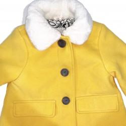 Girls Yellow Pea Coat Sz 2T