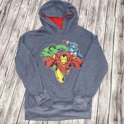 Marvel Super Hero Gray Hoodie Sz 10/12